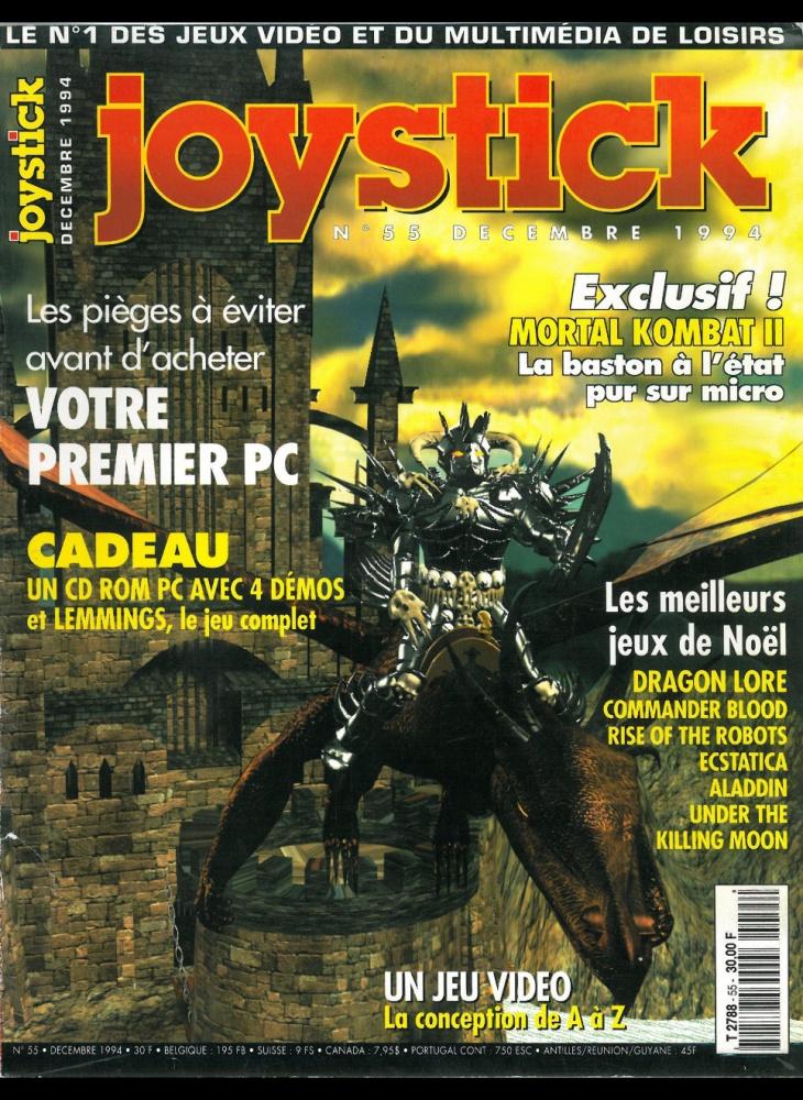 Numero 55 du magazine Joystick - ABANDONWARE FRANCE
