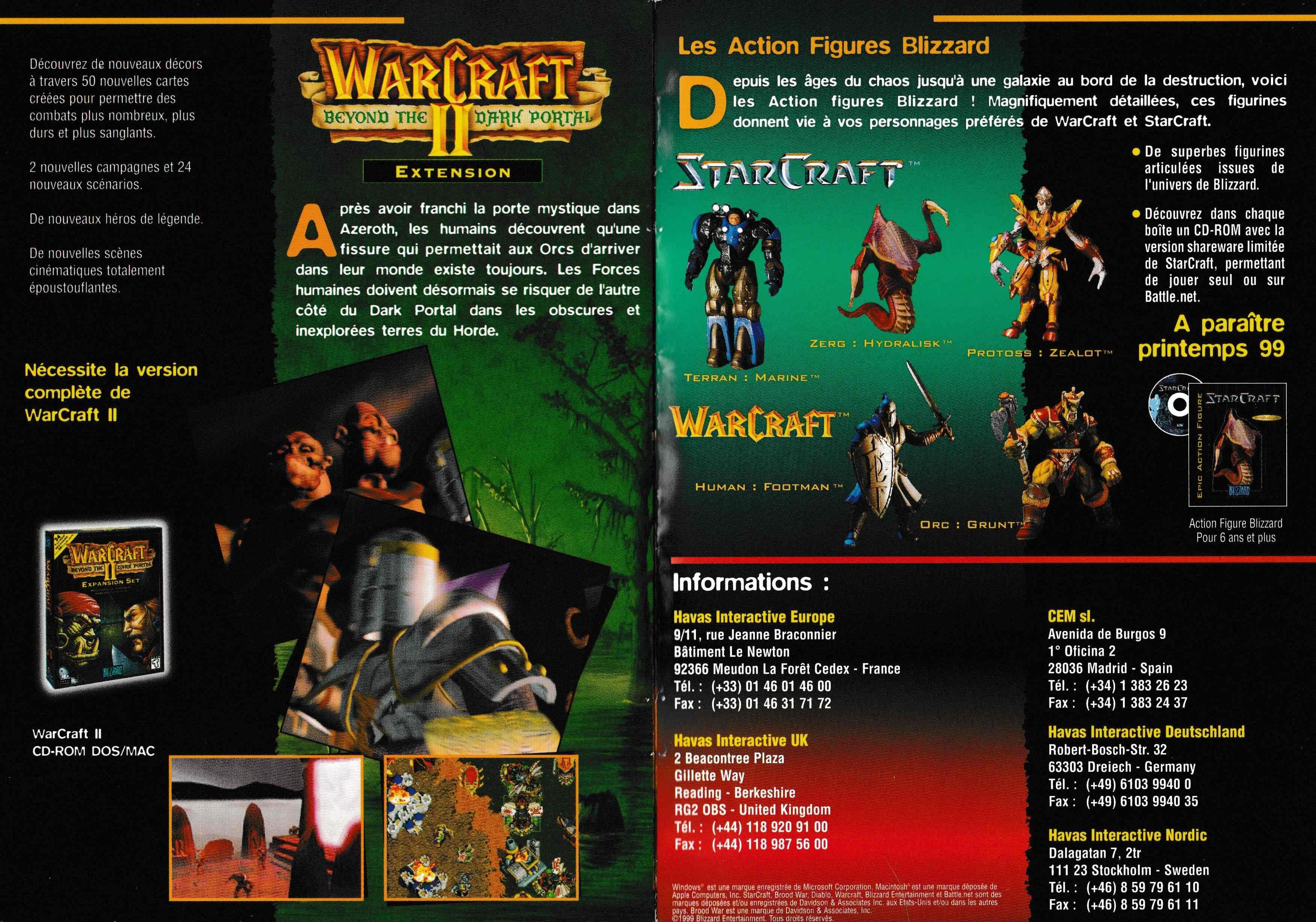 LTF Abandonware France, Galeries d'images du jeu Warcraft II