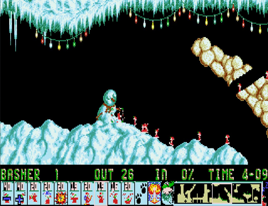 x-mas lemmings 1991