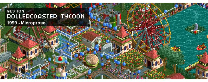 RollerCoaster Tycoon - Gestion - 1999 - Microprose